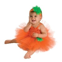 (Rubie s) Rubie s Costume Newborn Pumpkin Tutu Dress (Size:6 - 9 Months|Color:Multi)