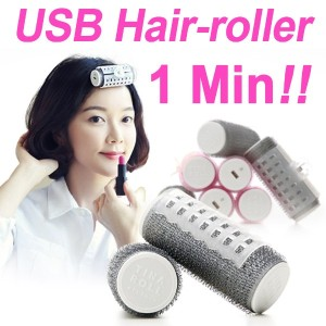 【TINAROLL】New Portable Hair-roller★1 minutes finished! Protection of your hair★USB Charging/Curling...