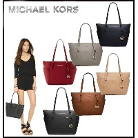 ★オークション限定★MICHAEL KORS★JET SET TOP ZIP SAFFIANO LEATHER TOTE