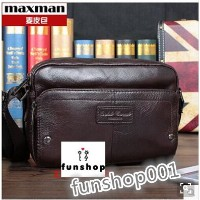 Leather man bag Messenger bags retro men Korean casual and simple leather bag shoulder diagonal...