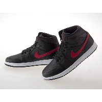 [ナイキ] NIKE AIR JORDAN 1 MID エア ジョーダン 1 ミッド BLACK/TEAM RED/WHITE #554724-009