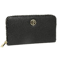 トリーバーチ 財布 アウトレット TORY BURCH 33650 001 ROBINSON ZIP CONTINENTAL WALLET 長財布 BLACK