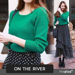 ★ ontheriver ★ SUPER SALE!! ★ 5 Colors Crop Style Basic Knit Top / Knit Wear / Korean Fashon /