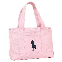 ポロラルフローレン バッグ POLO RALPH LAUREN 950189 SCHOOL TOTE MEDIUM トートバッグ WHITE/NAVY/FUCHSIA PP