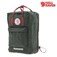 ★【Fjallraven正規品】★【EMS 送料無料 】★【カンケンバック】★KANKEN 17 Laptop Forest Green/ Ox red★