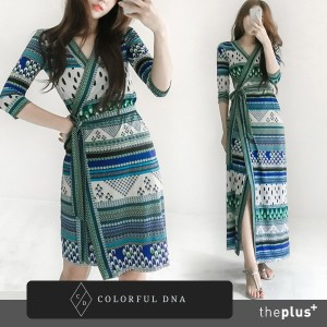 ★COLORFUL DNA★ duma wrap dress/DESIGN BY KOREA /Korea famous fashion blogger Recommended Products/...