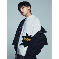8SECONDS [8 X G-Dragon] Lettering Knit Pullover_ G-Dragon GD Collaboration