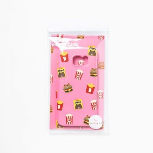 Line Friends Burger Chips Collection Official Pink Galaxy Hard Case