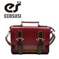 (ECOSUSI) ECOSUSI Women Faux Leather Vintage Satchel Bag Crossbody Purse