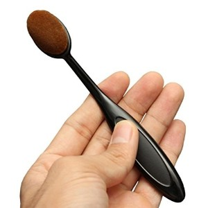 HOSL Soft and Dense Bristles Oval Toothbrush Curve Foundation Brush Cosmetic Makeup Face Cream...