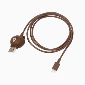 [NEW] LINE FRIENDS STORE OFFICIAL GOODS : Brown Charge n Sync Cable 8Pin