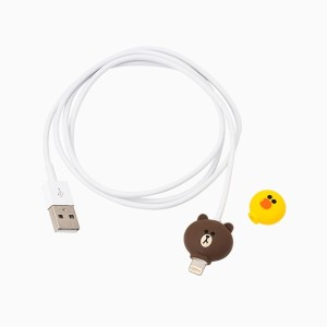 [NEW] LINE FRIENDS STORE OFFICIAL GOODS : Brown USB SYNC x CHARGE Cable with Sally Earcap