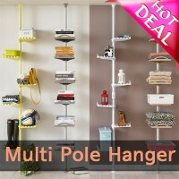 2016 NEW ★Clothes hanger/ Clothes/Moving Clothes Drying Hanger /Foldable Laundry Rack/ Single Rod/...