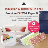 [HowRU] ★ DIY Wall Paper Brick ★ Eco Friendly / Soundproof / Mold-Zero / Insulation / Wall Sticker ...