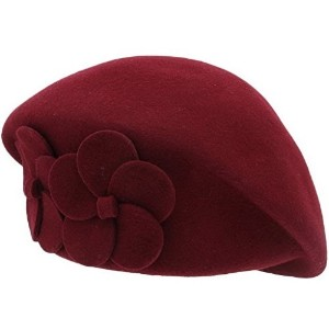 [アメリカ直送]YueLian Solid Color Women Petrine French Wool Beret Church Fedora Ski Beanie Hats Cap
