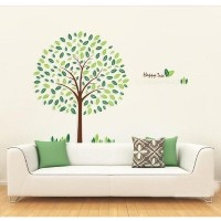 [アメリカ直送]MZY LLC (TM) Green Happy Tree DIY Wall Art Home Decoration Removable Wall Sticker for Kids...