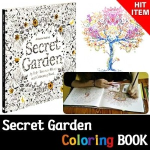 ★Coloring Book★[The Secret Garden]coloring colouring book/kids adult/hobby game/colored pencil