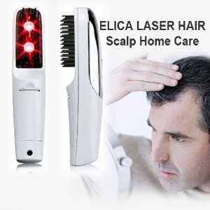 [ELICA LASER HAIR]Scalp Home Care/Portable 2in1 RED LED Light + Vibration Hair Growth Comb/Massage...
