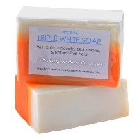 [アメリカ直送]3 Bars of Kojic Acid Placenta  Glutathione Triple Whitening/Bleaching Soap
