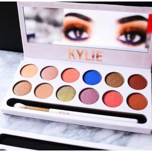 New Kylie The Royal Peach Palette 12 color Kylie Jenners 12color Eyeshadow palette with pen...