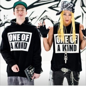 Bigbang G-Dragon GD HIP HOP ONE OF A KIND Kpop ブラック フーディー  スウェット