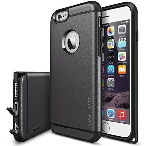 Apple iPhone 6 Case 4.7 (2014モデル国内正規品) 液晶保護シート付きRingke MAX iPhone 6 Case (Gun Metal)