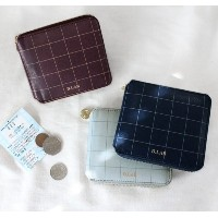 [HOTTRACKS][D.LAB] D.LAB Check zipper wallet/purse/card wallet/Korean design/leather