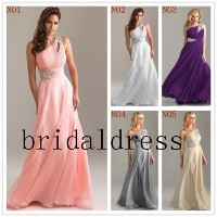 2015 beads one Shoulder wedding dress Custom colors Homecoming Dress long Prom Dresses Party Gown...