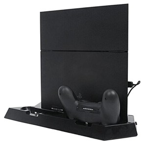 Dual USB Controller Charger Docking Stand Base + Cooling Cooler Fan with 3 USB HUB for Sony...
