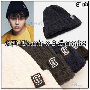 予約販売[8 x GD コラボ][8 SECONDS] ビニー Ribbed Beanie G-Dragon GD Collaboration BIGBANG ファッション G-dragon...