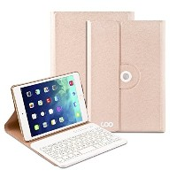Coo iPad Air 1 2 Bluetooth Keyboard Case with 360 Degree Rotation & Stand Holder
