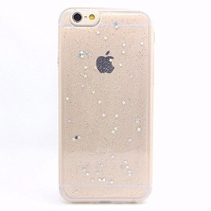 iPhone 6s Case iPhone 6 Case LUOLNH Spark Glitter Shine Diamond Star TPU Silicone Gel Soft Clear...