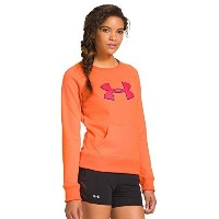Under Armour Womens UA Big Logo Letterman Crew Large CITRUS BLAST