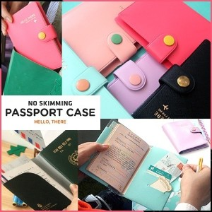 Brand New Travel NO SKIMMING PASSPORT CASE 旅行の必需品 NOスキミングパスポートケース Well-made Idea Item / Made in...
