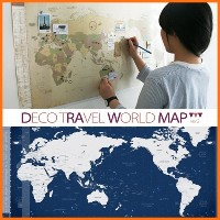 Brand New Travel Deco travel world map ver.2 旅行の必需品 世界地図 Well-made Idea Item / Made in Korea ...