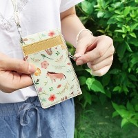 Willow Story Pattern Neck Zipper case (Necklace Card pocket) ネックレスカードポケット Indigo [made in Korea]