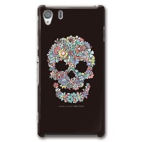 CollaBorn Xperia Z1 (SO-01F)専用デザインケース ALTERNATIVE Flower Skull OS-XZ1-124