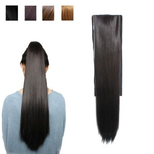 New Long Straight High ponytail Lace front wig Hair Piece Extensions 4 Color