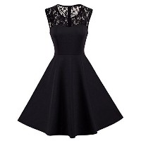 HOMEYEE Women s Vintage Chic Sleeveless Cocktail Party Dress A008