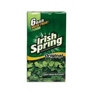 Irish Spring Deodorant Soap Original 3.75 oz (6 Pack)