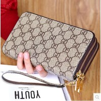 New ladies wallet long section large capacity double zipper hand wallet female double cell phone bag
