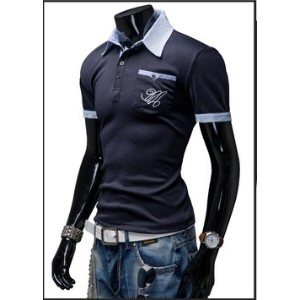 A British man summer short sleeved Polo shirt Lapel T-shirt