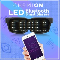 Smart Bluetooth LED Sun Glasses CHEMION 2 / DJ Mode / Party SunGlasses Item / Free Control with...
