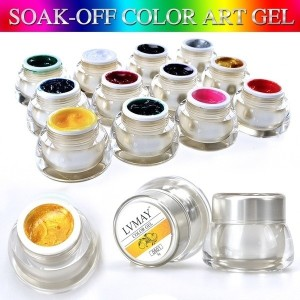 12 Different Colors 3D Nail Art Paint Draw Painting Acrylic Color UV Gel Tip DIY