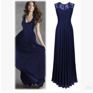 Europe and the United States fashionable new long-sleeved long-sleeved hollow v-neck halter dress