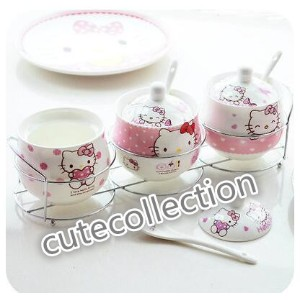 HELLO KITTY ceramic spice jar seasoning box seasoning box condiment bottles Kitchen with hob tsp