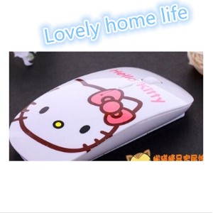 hello kitty A Dream creative wired optical mouse slim portable wireless mouse cartoon_Lovely home...