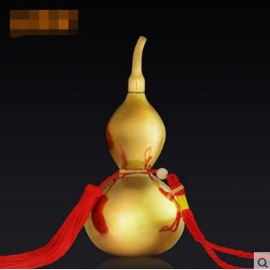 Pure copper gourd ornaments feng shui supplies copper gourd home decorations feng shui crafts