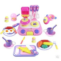 Children play house kitchen playsets simulation kitchen utensils to cook baby educational toys