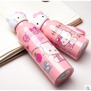 hello kitty KT cat mug stainless steel thermos second-generation portable leak-proof cups cartoon...